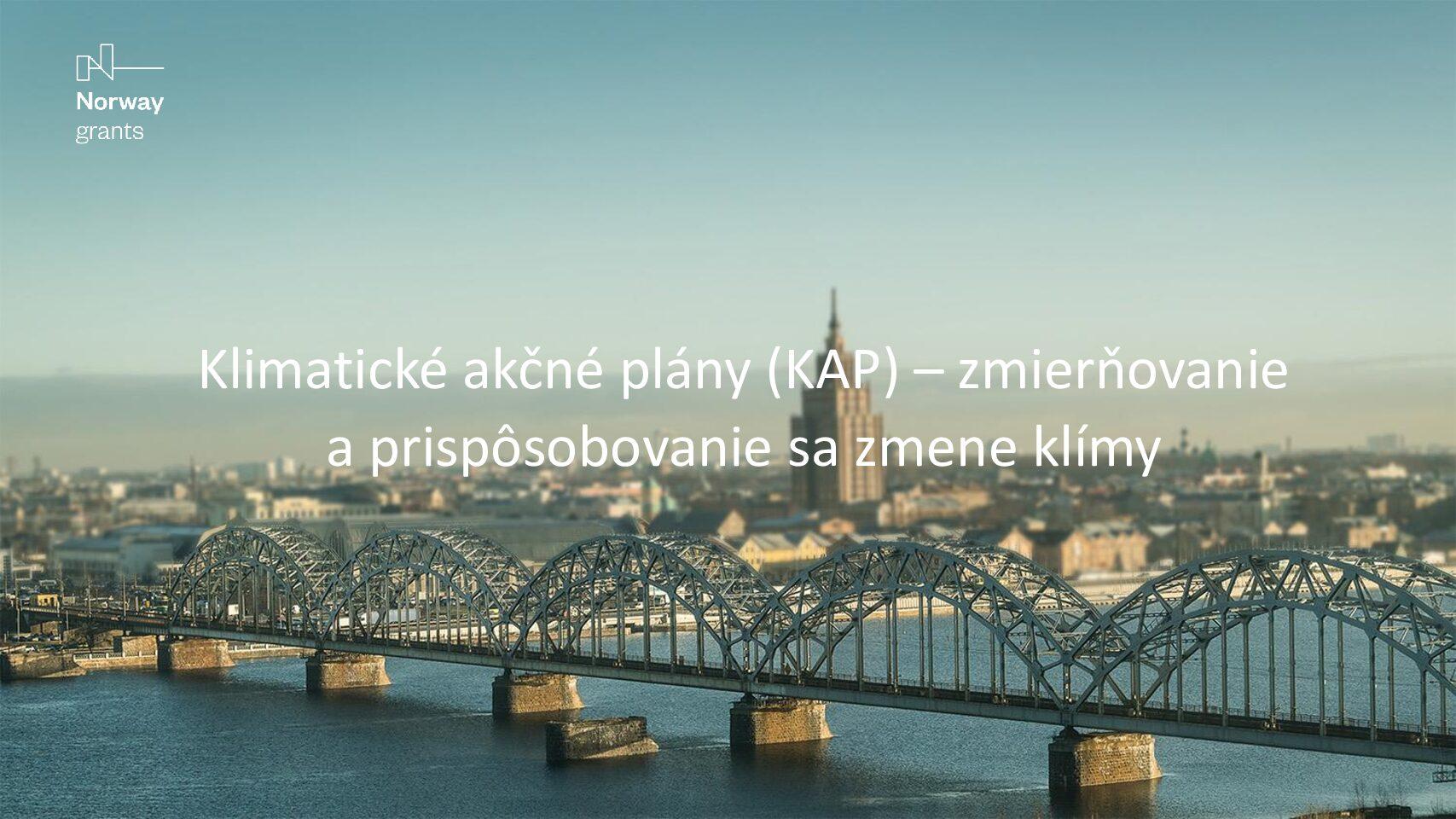 Príprava klimatických akčných plánov miest a obcí na Slovensku